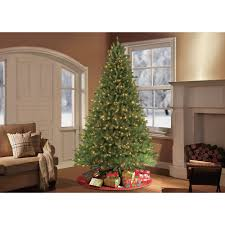 Christmas Trees Unlit 9 Ft by Puleo 9 Ft Pre Lit Fraser Fir Artificial Christmas Tree With 1000