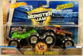 2017 Hot Wheels Monster Jam Demolition Doubles - Grave Digger Vs. El ... Traxxas 116 Grave Digger New Rc Car Action Amazoncom Axial Smt10 Monster Jam 4wd Used Original Power Wheels In Willow Street Truck Proline Factory Team Lot Detail Drawn Truck Grave Digger Monster Pencil And Color Drawn Craigslist Best Hot Green 4 Time Champion Bad New Bright Ff 128volt 18 Chrome Battery Upgrade For 24v 2wd Rtr Wbpack Tq 24 World Finals Xvii Competitors Announced Mesmerizing