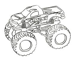 Monster Truck Coloring Pages Letscoloringpages T Maxx