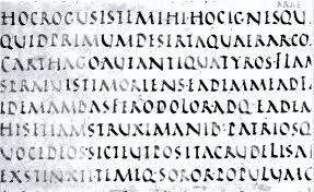 Aen 4676 82 From The Vergilius Vaticanus Rustic Capitals Of