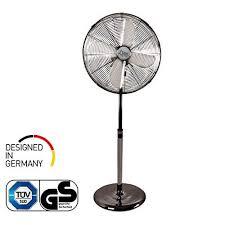 ventilator leise standventilator coolbreeze 4000 40 cm durchmesser 50 watt stand fan windmaschine metall chrom für bett schlafzimmer büro