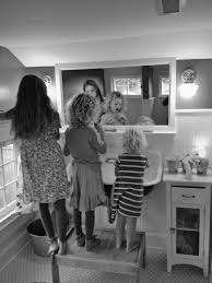 Kohler Utility Sink Stand by The Girls Bathroom Reveal Simply Natural Mom