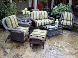 Big Lots Patio Furniture Cushions by Outdoor U0026 Garden 5 Piece Wicker Patio Furniture With Glass Top