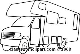 Rv Black And White Clipart 1