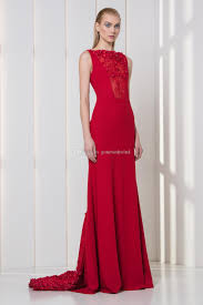 red evening dresses 2018 tony ward dresses embellished with pearls