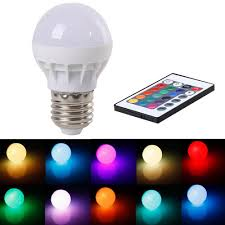 3w rgb led light bulb l e27 gu10 ac 85 265v color changing ir