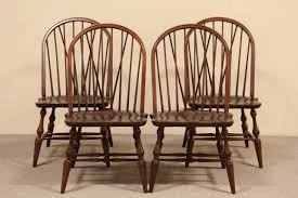 SOLD Set of 4 Pennsylvania House Windsor Dining or Game Table