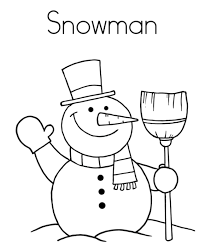 Coloring Pages Winter Snowman Free