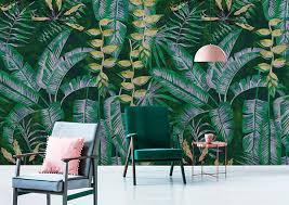 tapetentrends 2019 farbe natur und exotik