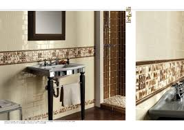 ideas of a bathroom with subway tile and chair rail