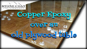 Copper Epoxy Over An Old Plywood Table - YouTube English Walnut Table Top W Epoxy Encapsulation Resin Corner Cedar Bar Top Epoxy Resin Projects To Try And Coverage Table Singapore Finish Home Depot Diy Tiki Topsail Nc Aurant Wood Tops Lawrahetcom Diy Penny Tiled Print Block Cast In Gosto Disto Pinterest Amazoncom Epoxit 80 Clear For Gloss Solid Oak And Wj Bars