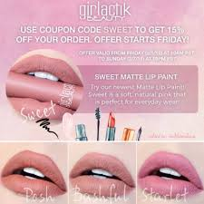1 Favorite Liquid Lipstick Girlactik Is On Sale! Promo Code Below