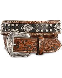 nocona black u0026 tan bling western belt sheplers