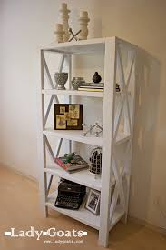 ana white rustic x tall bookshelf diy projects