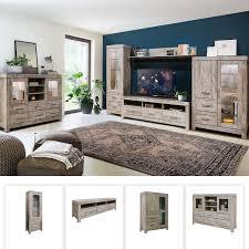 grande modernes wohnzimmer komplett set wohnwand im loft stil