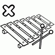 Coloring Pages Xylophone Page Free