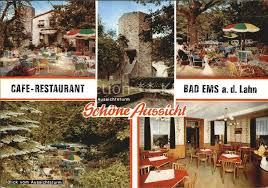 bad ems cafe restaurant schoene aussicht aussichtsturm bad ems