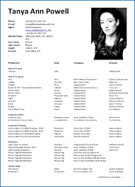 Actors Cv Acting Resume Sample Examples For Beginner Example Beginners Fgezyk Lovely Templates Fdljj Simple Thus