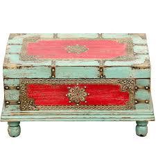 vintage sitzbank mit aufbewahrung für den flur betttruhe als
