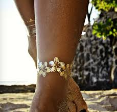 Ankle Bracelet Hawaiian Flower Tattoo