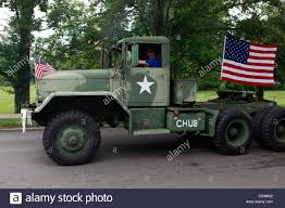 Military Semi Truck Decorated With Word