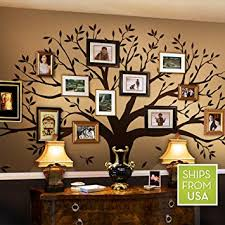 family tree wall decal by simple shapes chestnut brown standard