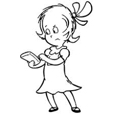 Sally Character From Cat In The Hat Coloring Picture
