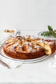 rezept für einen apfelkuchen mit zimt und walnüssen hey