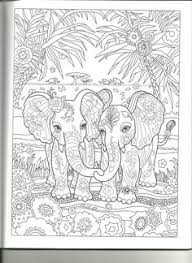 Coloring Pages Fun Time Elephants