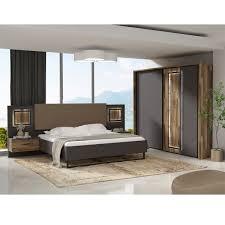 forte sirius black schlafzimmer set bestehend aus bettanlage mit nachttischschränken und großem schwebetürenschrank