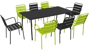 chaise et table de jardin pas cher beau salon de jardin metal