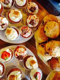 canape firr cakes and scones at station creative picture of