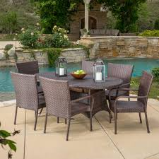 Three Posts Barney 7 Piece Dining Set & Reviews | Wayfair Glass Top Alinum Frame 5 Pc Patio Ding Set Caravana Fniture Outdoor Fniture Refishing Houston Powder Coaters Bistro Beautiful And Durable Hungonucom Cbm Heaven Collection Cast 5piece Outdoor Bar Rattan Pnic Table Sets By All Things Pvc Wicker Tables Best Choice Products 7piece Of By Walmart Outdoor Fniture 12 Affordable Patio Ding Sets To Buy Now 3piece Black Metal With Terra Cotta Tiles Paros Lounge Luxury Garden Kettler Official Site Mainstays Alexandra Square Walmartcom The Materials For Where You Live
