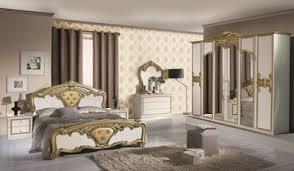 schlafzimmer elisa weiss gold 6 türig luxus italienische möbel komplett zimmer