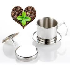 Get Quotations YUL Coffee Maker Pot Stainless Steel Vietnamese Drip Filter Single Cup