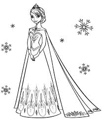 Frozen Elsa Coloring Pages Nice For Kids
