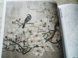 New Tattoo Books Lotus Peony Flower Bird Chinese Painting