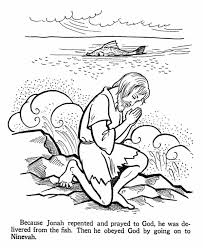 Repentance Tshuvah Jonah And The Whale Bible Story Coloring Page