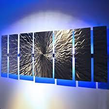 modern abstract metal wall large metal panels