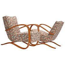 Two Streamline Lounge Chairs H-269 By Jindrich Halabala For ...