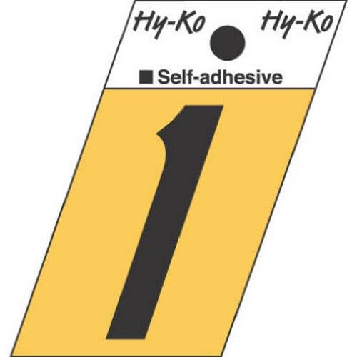 Hy-Ko Products Number 1 Self-Adhesive - Gold
