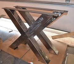 Metal Table Legs X Frame Style