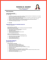 Basic Resume Examples For Ojt Luxury Certificate Sample Hrm Fresh Awesome Application Letter