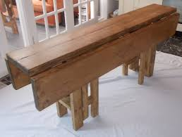 Large Handmade Rustic Drop Leaf Kitchen Dining Table 4 Gate