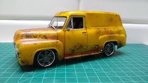 100 1955 Ford Panel Truck F100 Under Glass Pickups Vans SUVs Light