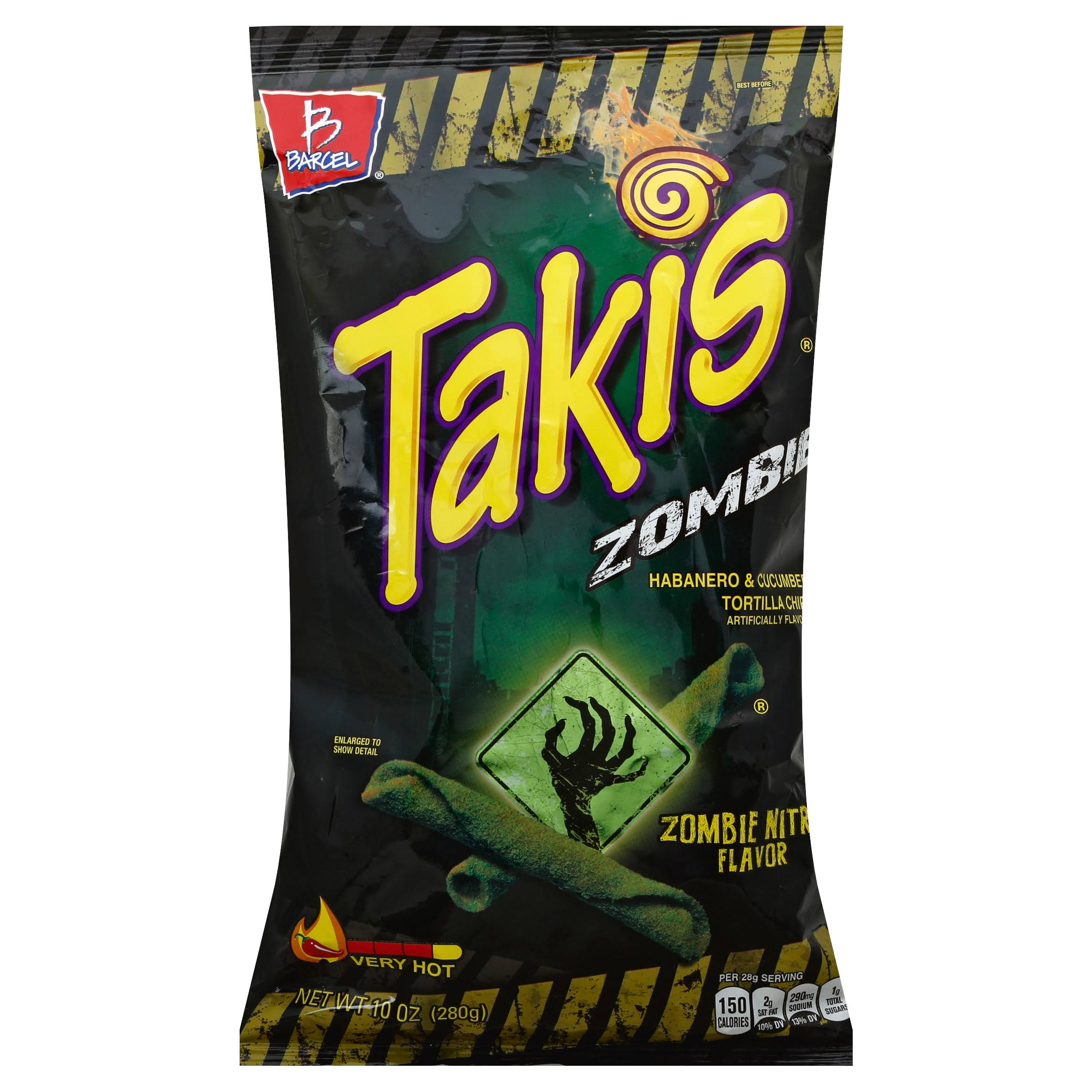Takis Tortilla Chips, Zombie Nitro Flavor, Very Hot - 10 oz