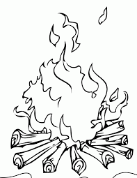 Campfire Coloring Page Handipoints Home And