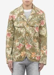 scotch u0026 soda floralprint jacket in green for men lyst