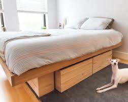 Walnut Storage Bed Platform Bed No 2 Modern Wood Bed