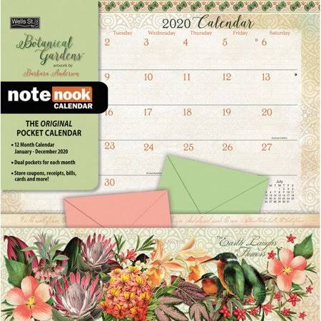 Botanical Gardens 2020 Pocket Wall Calendar
